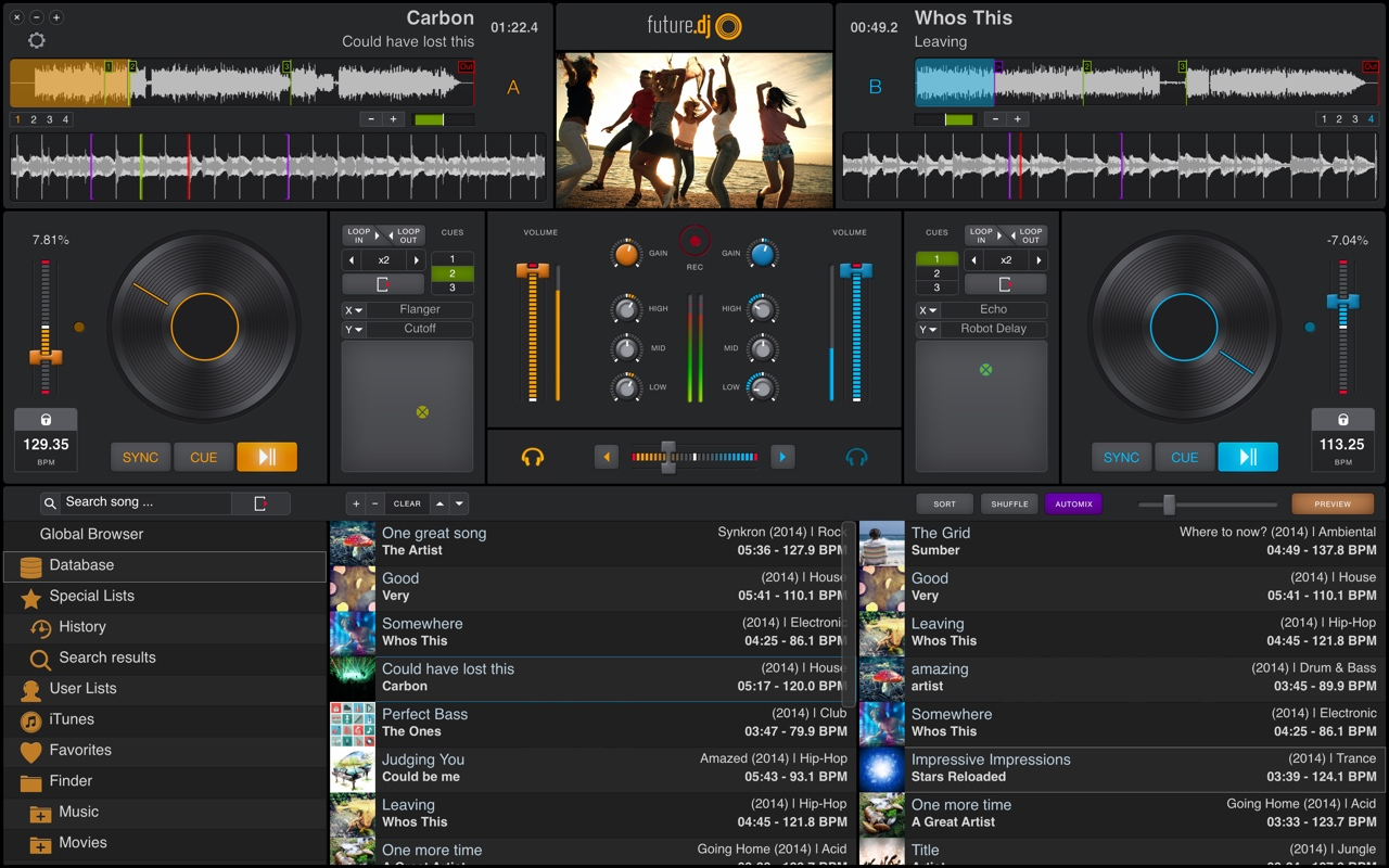 Click to view future.dj 1.2.6 screenshot